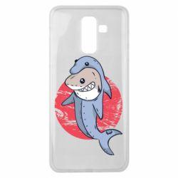 Чехол для Samsung J8 2018 Shark or dolphin