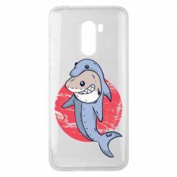 Чехол для Xiaomi Pocophone F1 Shark or dolphin