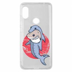 Чехол для Xiaomi Redmi Note 6 Pro Shark or dolphin