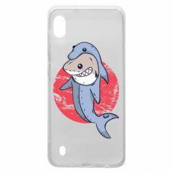 Чехол для Samsung A10 Shark or dolphin