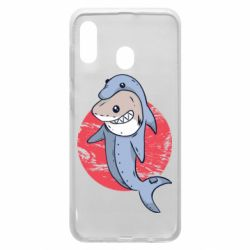 Чехол для Samsung A20 Shark or dolphin