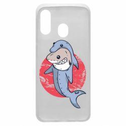 Чехол для Samsung A40 Shark or dolphin