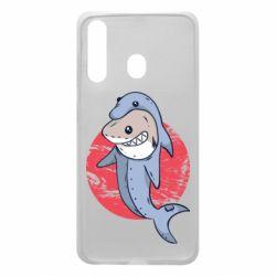 Чехол для Samsung A60 Shark or dolphin