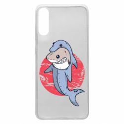 Чехол для Samsung A70 Shark or dolphin