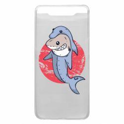 Чехол для Samsung A80 Shark or dolphin
