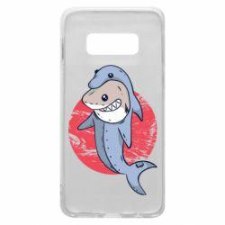 Чехол для Samsung S10e Shark or dolphin