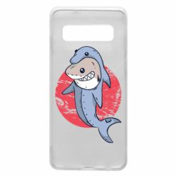 Чехол для Samsung S10 Shark or dolphin