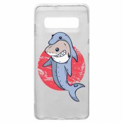 Чехол для Samsung S10+ Shark or dolphin