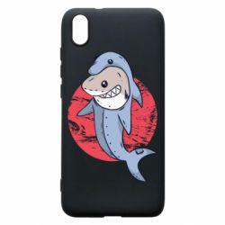 Чехол для Xiaomi Redmi 7A Shark or dolphin