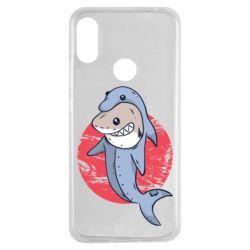 Чехол для Xiaomi Redmi Note 7 Shark or dolphin