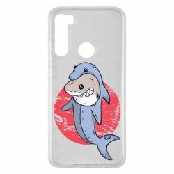 Чехол для Xiaomi Redmi Note 8 Shark or dolphin