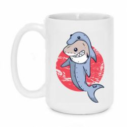 Кружка 420ml Shark or dolphin