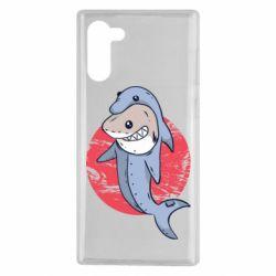 Чехол для Samsung Note 10 Shark or dolphin