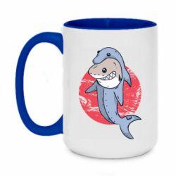 Кружка двухцветная 420ml Shark or dolphin