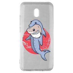 Чехол для Xiaomi Redmi 8A Shark or dolphin