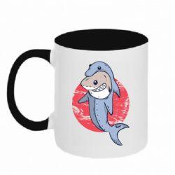 Кружка двухцветная 320ml Shark or dolphin
