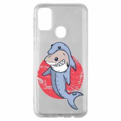 Чехол для Samsung M30s Shark or dolphin