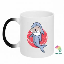 Кружка-хамелеон Shark or dolphin