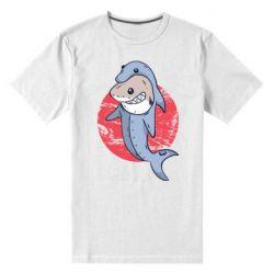 Мужская стрейчевая футболка Shark or dolphin