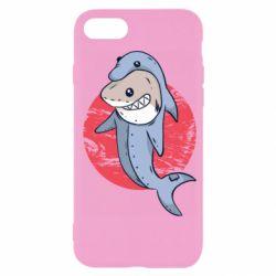 Чехол для iPhone 7 Shark or dolphin