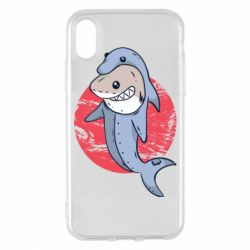 Чехол для iPhone X/Xs Shark or dolphin