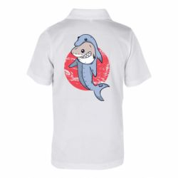 Детская футболка поло Shark or dolphin