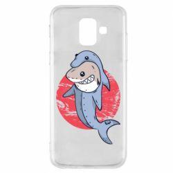 Чехол для Samsung A6 2018 Shark or dolphin