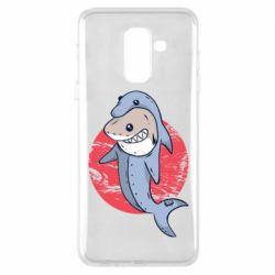 Чехол для Samsung A6+ 2018 Shark or dolphin