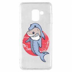 Чехол для Samsung A8 2018 Shark or dolphin
