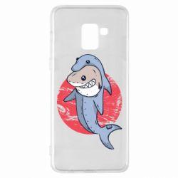Чехол для Samsung A8+ 2018 Shark or dolphin