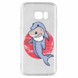 Чехол для Samsung S7 Shark or dolphin