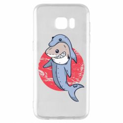 Чехол для Samsung S7 EDGE Shark or dolphin