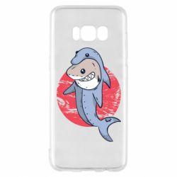 Чехол для Samsung S8 Shark or dolphin