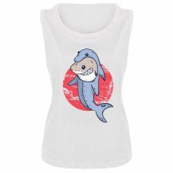 Женская майка Shark or dolphin