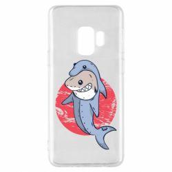 Чехол для Samsung S9 Shark or dolphin