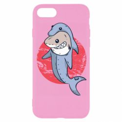 Чехол для iPhone 8 Shark or dolphin