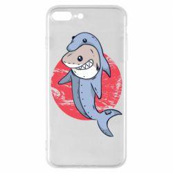 Чехол для iPhone 8 Plus Shark or dolphin