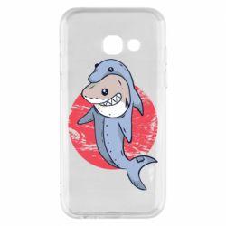 Чехол для Samsung A3 2017 Shark or dolphin