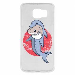 Чехол для Samsung S6 Shark or dolphin