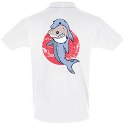 Мужская футболка поло Shark or dolphin