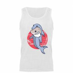 Мужская майка Shark or dolphin