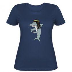 Жіноча футболка Shark Rastaman