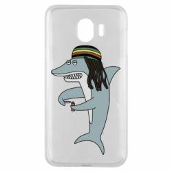 Чохол для Samsung J4 Shark Rastaman