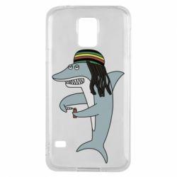 Чохол для Samsung S5 Shark Rastaman