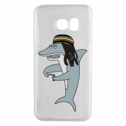 Чохол для Samsung S6 EDGE Shark Rastaman