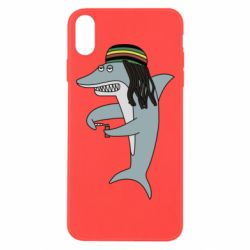 Чохол для iPhone Xs Max Shark Rastaman