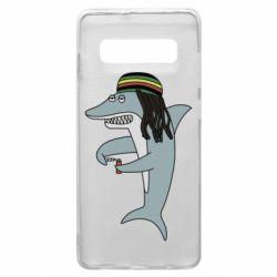 Чохол для Samsung S10+ Shark Rastaman