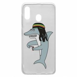Чохол для Samsung A20 Shark Rastaman