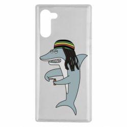 Чохол для Samsung Note 10 Shark Rastaman