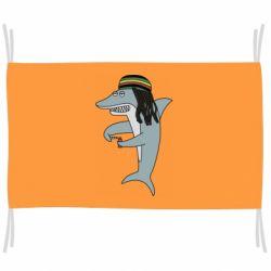 Прапор Shark Rastaman